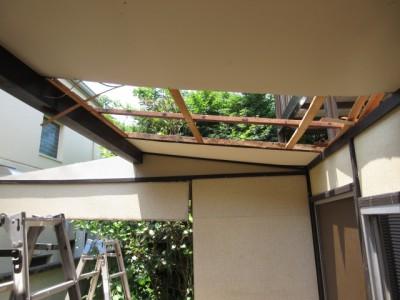 天井の撤去