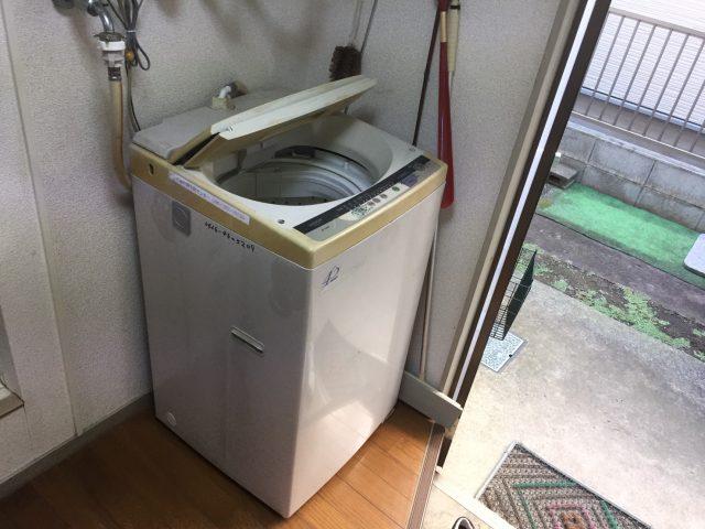 洗濯機 前