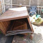 練馬区で木製の物置の解体と建築廃材などの処分