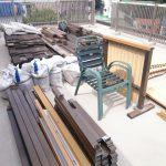 品川区でウッドデッキ解体後の建築廃材処分