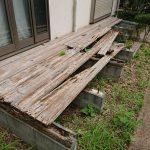 横浜市港南区でウッドデッキの解体と不用品回収
