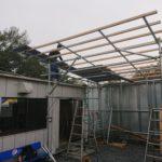単管パイプの屋根作り!
