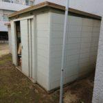 中野区で物置2台と残置物の撤去