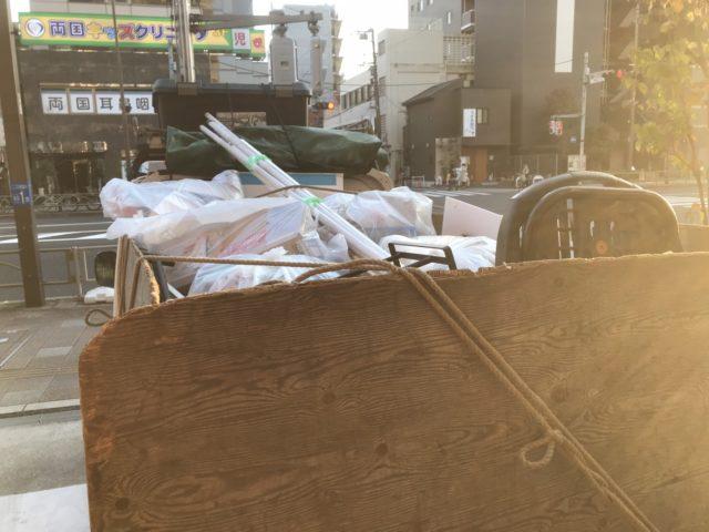 墨田区 軽トラ積み込み後